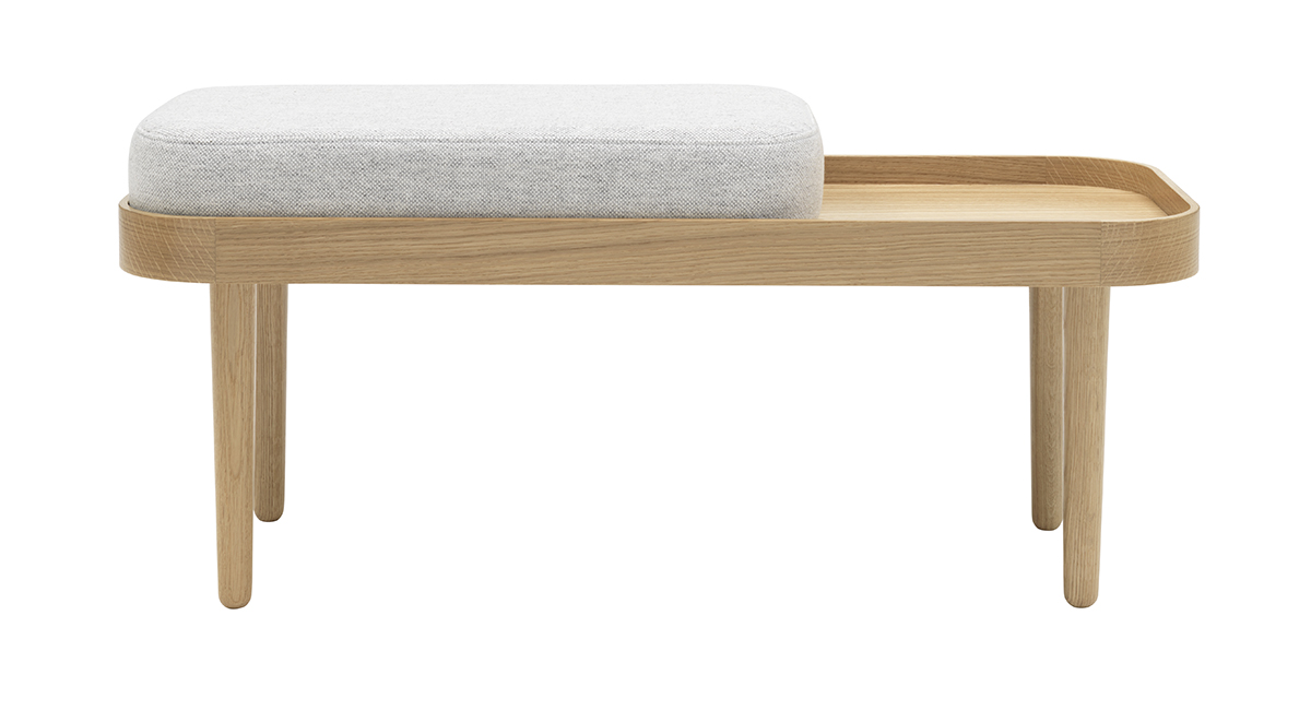 Bench Seat Cushion Light Grey Mélange