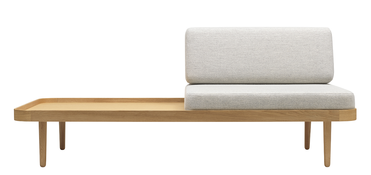 Daybed Back Cushion Light Grey Mélange